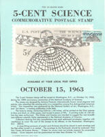 #1237 5c Science Stamp Poster - Unofficial Souvenir Page Flat HC
