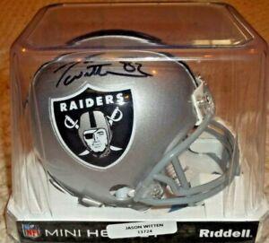 Jason Witten Signed Raiders Mini Helmet (Beckett COA & Witten Hologram)