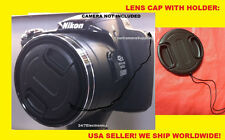 1 FRONT SNAP-ON LENS CAP DERECTLY TO CAMERA NIKON COOLPIX L110 L 110 L100+HOLDER