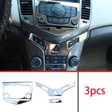 FOR Chevrolet Cruze 2010-2015 steel chrome central console CD panel cover trim