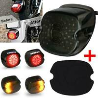LED Rear Tail Light Brake Smoke for Harley Touring Dyna Glide Softail Sportster