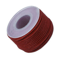 Round Waxed Cotton Jewellery Bead Cord 1.5mm (Dark Red) - 10 metres (M66/3)
