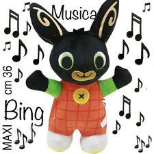 BING Peluche, Musica, Parlante Lingua Italiana, 36cm Max Cantante Coniglio Bunny