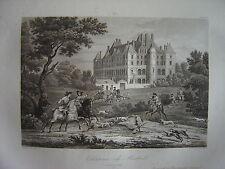 Grande gravure du Château de MADRID vers 1724