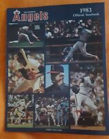 1983 CALIFORNIA ANGELS YEARBOOK MAGAZINE ANAHEIM LOS ANGELES CAREW JOHN BOONE