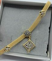 Vintage Avon Jewelry Gold Tone Mesh Clear Cluster Rhinestone Necklace 18'