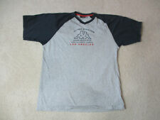 VINTAGE Kappa Shirt Adult Large Gray Blue Track & Field Olympics Mens 90s *