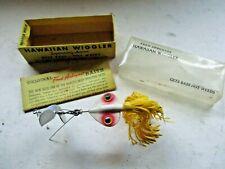 Vintage Fred Arbogast Hawaiian Wiggler In Original Box & Paper, Trailer Hook
