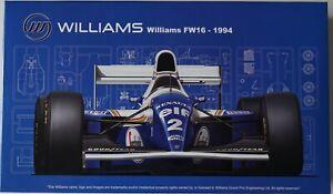 Fujimi 92126 (GP-24) 1/20 Rothmans Williams FW16 Renault model kit