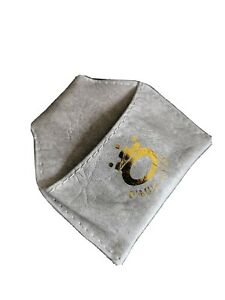 O'Min Grey Leather Snooker / Pool / Billiards Clip on Chalk Pouch - UK Seller