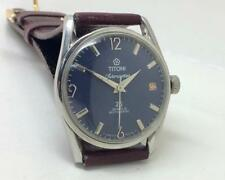 VINTAGE TITONI AIRMASTER ROTOMATIC AUTOMATIC DATE BLUE DIAL MEN SWRIST WATCH
