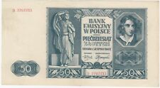 Poland 1941 50 Zlotych, about Uncirculated