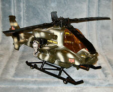 2001 GI JOE Army FUNRISE Helicopter with Sound, Power Winch and Lights