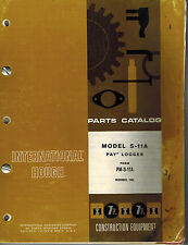 INTERNATIONAL/HOUGH S-11A PAYLOGGER PARTS  MANUAL