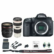 Canon 7D Mark II DSLR Camera Body + 24-70mm f/4L IS + 70-200mm f/4L Lens