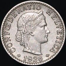 1926 B   Switzerland 20 Rappen   Nickel   Coins   KM Coins