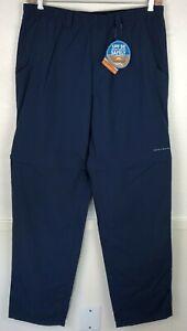 "Columbia PFG Omni Shade Mens Large 34"" Inseam Dark Blue Convertible Pants Shorts"