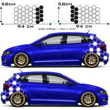 Auto Aufkleber Hexagon Seitenaufkleber Car Tattoo Decor Waben New 2er Set s66