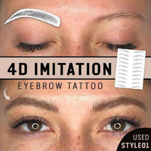 Fashion 6D Eyebrow Tattoo Sticker Transfer Stickers Beauty Beauty Tools