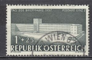 AUSTRIA used 1957 SC# Nr SEMI - POSTAL STAMPS - B 299  Stamp Day