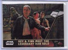 2016 Topps Star Wars Chrome Superfractor 1/1 Rey & Finn Meet Han Solo #42