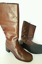 Naturalizer Ladies Boots Wide Calf Brown Coffee Bean Size 9.5  741NA57 S01 USA