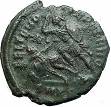 CONSTANTIUS II Authentic Ancient GLADIATOR Style BATTLE SCENE Roman Coin i78730