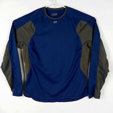 Sugoi Cycling Athletic Jersey Medium Long Sleeve Blue Gray Mesh Side
