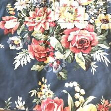 """Ralph Lauren Valance Kimberly Floral Blue French Country Roses Chic 82"""" x 17"""""""
