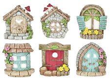 Ganz Mini Fairy Garden Door Window Miniature Tale Fantasy Decor Set of 6