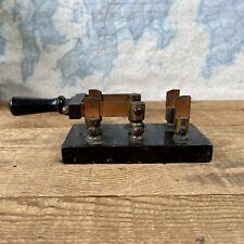 Antique B.E. Co. Electric Knife Switch Slate Base 35 Amp Steampunk Design