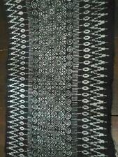 Hmong Thai Hilltribe Indigo Fabric Handwoven Tribal Batik Textile Vintage Style