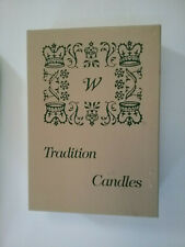 """W"" Tradition Taper Candles NIB New Vintage Fine Quality Tradition Maroon USA"