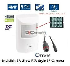 4MP HD PIR Covert Hidden IP/Network Surveillance Spy Camera 3.7MM POE ONVIF2.4