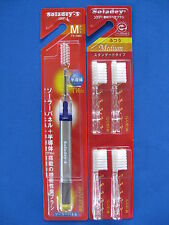 Soladey 3 regular size medium solar ionic toothbrush Purple & 4 replacement NEW