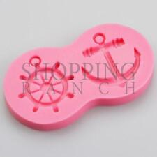 Nautical Ship Boat Wheel & Anchor Cupcake Cake Silicone Mould