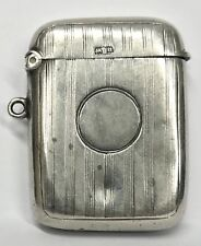 Hallmarked Antiques Silver Engraved Miniature Vesta Case John Rose 1919 20.3g