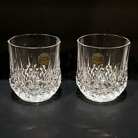 Cristal d'Arques 24% Lead Crystal Double Old Fashion Glasses Set of 2