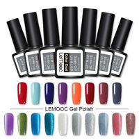 8ml LEMOOC Fine Glitter Vernis à Ongles Gel Polish Soak Off UV LED Gel Manucure