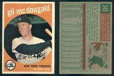 (51441) 1959 Topps 345 Gil McDougald Yankees-EM