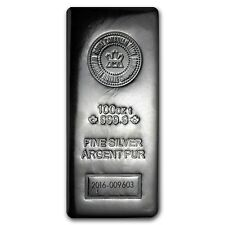 100 oz Silver Bar - RCM (.9999 Fine, Pressed Finish) - SKU #98851