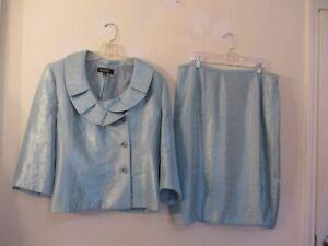 Kasper lined rayon blend skirt suit size 18