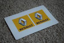 Renault Car Vehicle Logo Badge Racing Tuning Decal Stickers Yellow Grey 50mm