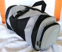 Bella Russo Toiletry Shaving Travel Bag 6 pockets Black & Gray Unisex EXCELLENT
