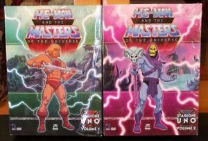 DVD BOX ITA ORIGINALI HE-MAN I DOMINATORI DELL' UNIVERSO VOL 1 & 2 MASTERS MOTU