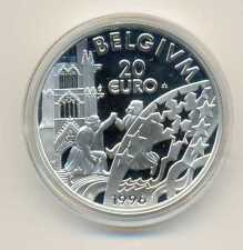 1996 Belgium Large Silver Proof 20 euro-King Albert