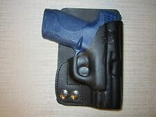 S & W M&P SHIELD 9MM & 40 CAL. leather LEFT HAND, wallet and pocket holster