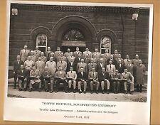 TRAFFIC INSTITUTE NORTHWESTERN UNIVERSITY PHOTO 1952 CHICAGO SCHOOL POLICE LAW