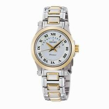 NEW Seiko SXD678 Premier Date Calendar Two-Tone Women's Watch $395