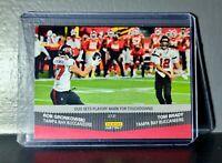 Tom Brady / Rob Gronkowski 2020 Panini NFL Superbowl #262 Football Card 1 of 966